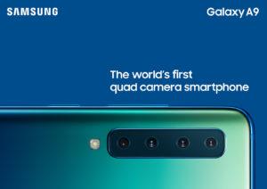 Le quattro camere posteriori del Galaxy A9 2018